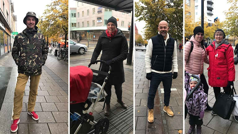 Bilder på luleåborna Olov Svonni, Viktoria Nyman, Christer Andersson, Britt Ericson.