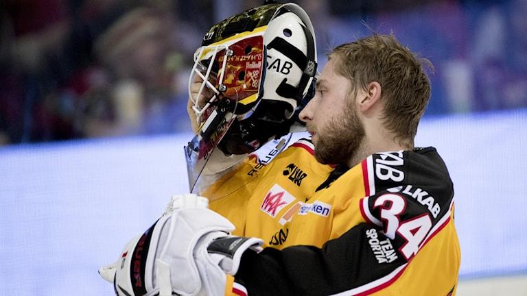 Luleås målvakt Joel Lassinantti under ishockeymatchen i SHL mellan Frölunda och Luleå i Scandinavium i Göteborg.
