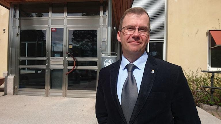 Mats Lindell, handläggare för tillväxt och infrastruktur vid länsstyrelsen i Norrbotten. Foto: Beatrice Karlsson/Sveriges Radio