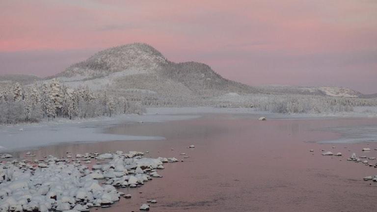 Veckans bild är tagen av Dominique Frédion som bor i Vuollerim. Bilden är från Njavve i Jokkmokks kommun.