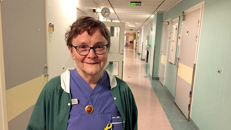 Britt-Marie Rautila, sjuksköterska på Sunderby sjukhus.