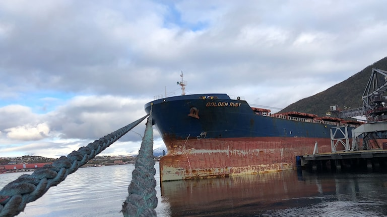 Kaunis Irons första malbåtsleverans.