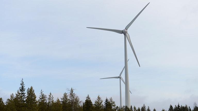 Vindkraftverk, vindsnurror.