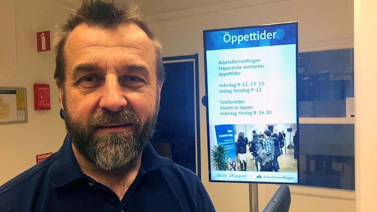 Per-Anders Ruona, chef för Arbetsförmedlingen i östra Norrbotten.