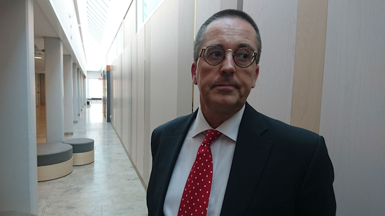 Anders Lorentzon, SSAB chefens försvarare. Foto: Beatrice Karlsson/Sveriges Radio