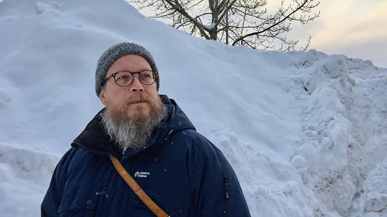 Simon Matti, statsvetare vid Luleå tekniska universitet. Foto: Anneli Lindbäck/Sveriges Radio