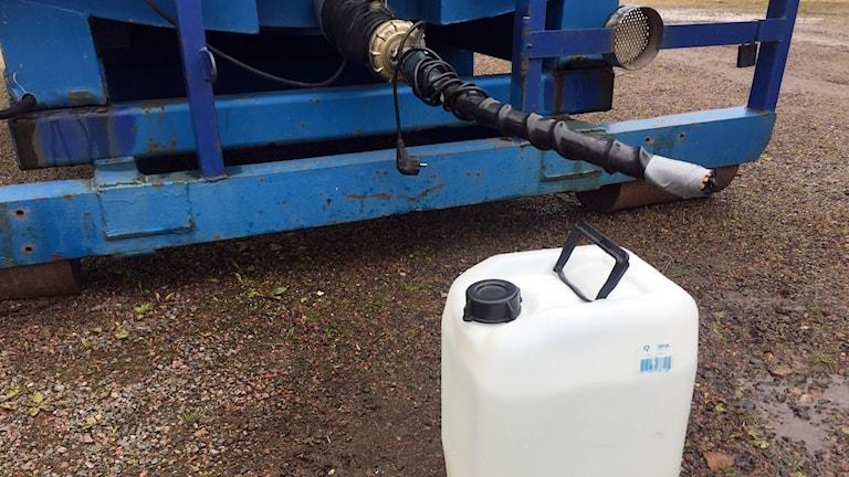 En tank med dricksvatten finns i Svappavaara.