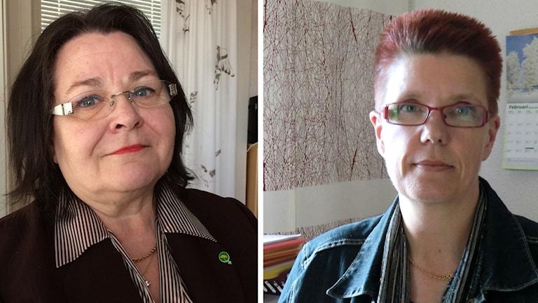 Regionråd Agneta Granström (MP) och Arvidsjaurs kommunalråd Lotta Åman (S).