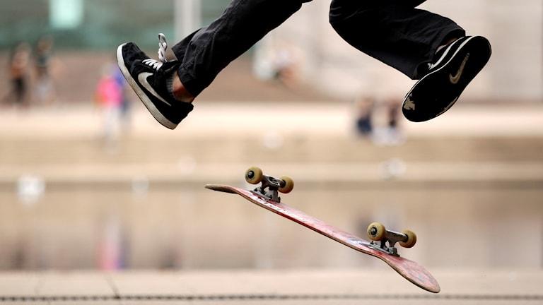 Skateboardåkare.