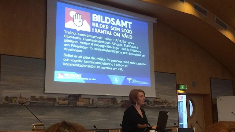 Föreläsaren Amanda Nyberg.