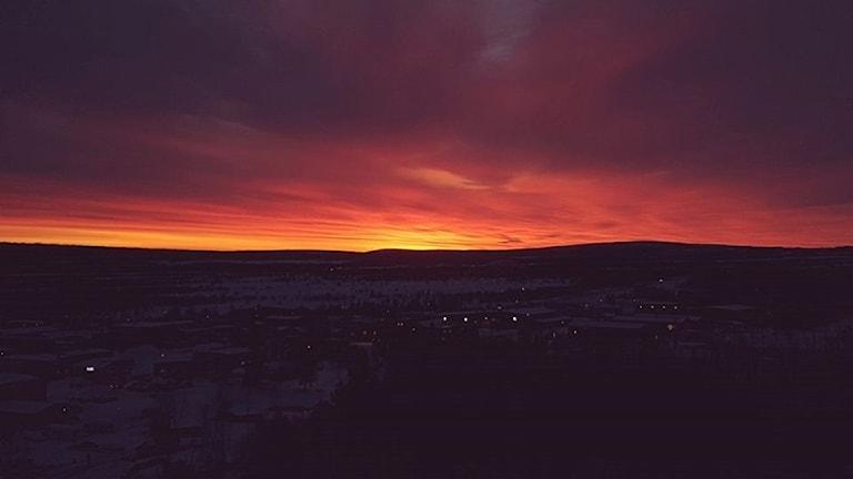 Soluppgång i Kiruna