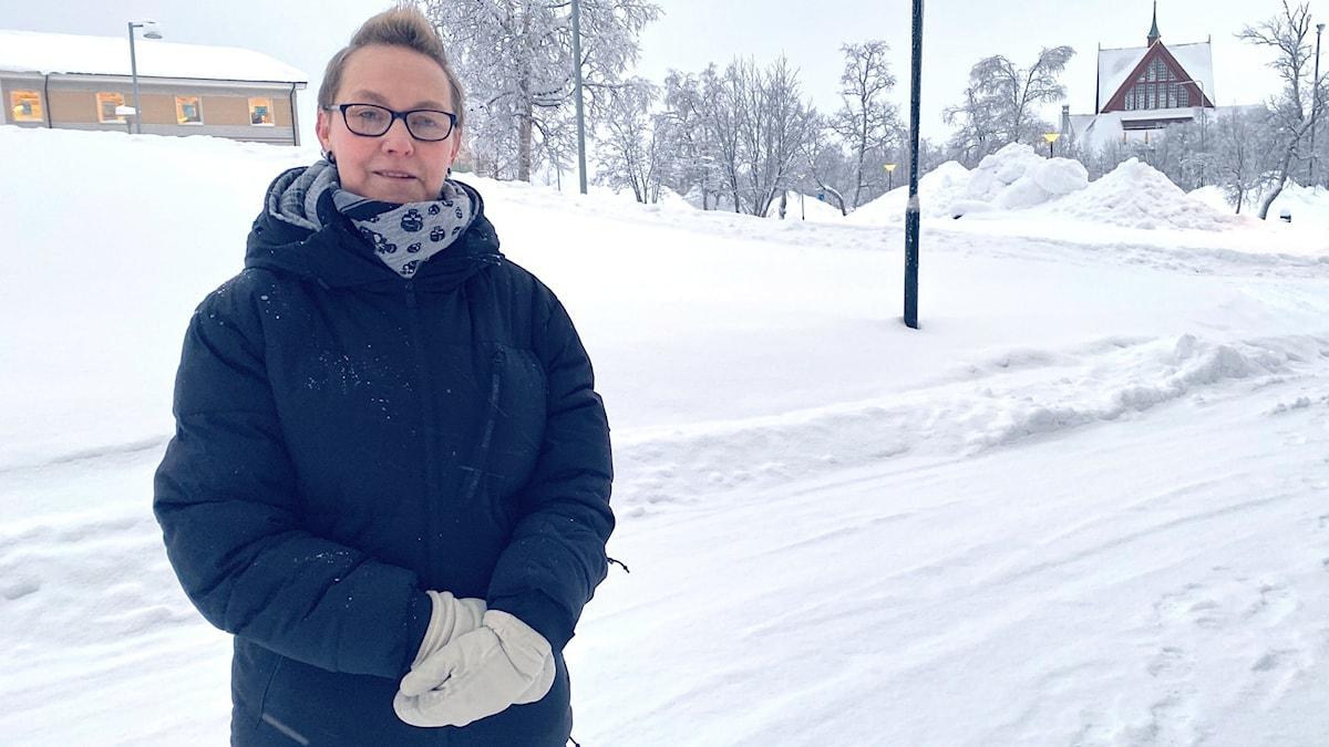 Marielle Skoglind jobbar inom hemtjänsten i Kiruna.