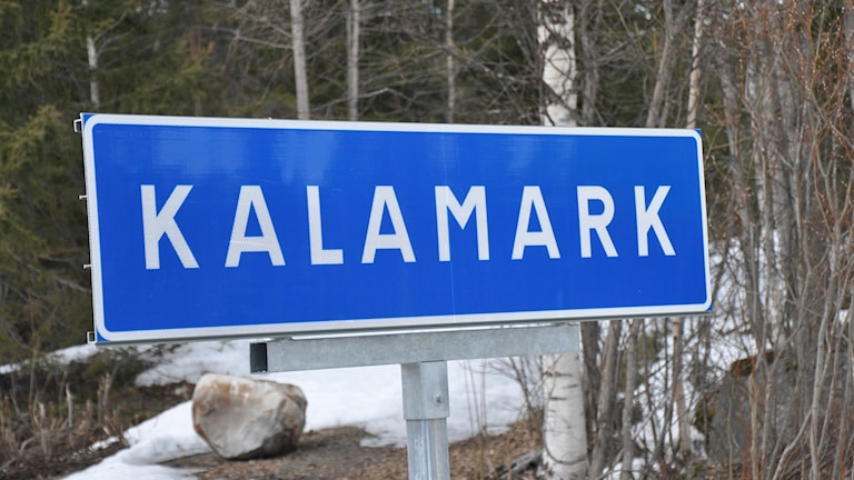 Kalamark skylt
