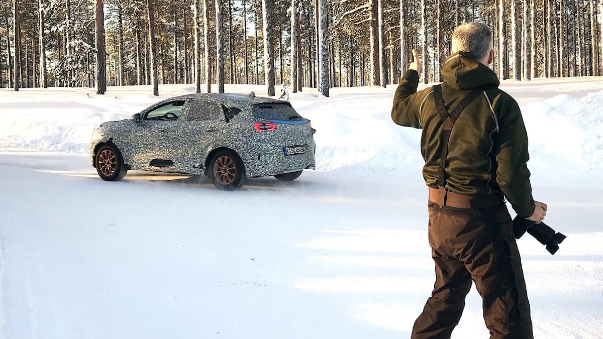 Bilfotografen Andreas Mau  har fotat en hemlig testbil.