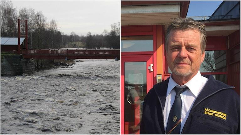 Bron över Råneälven och Bengt Nilsson, räddningschef Boden.