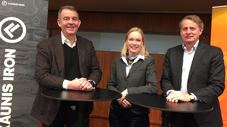 Per-Erik Lindvall, styrelseledamot, platschef Åsa Allan och Anders Sundström, ordförande.