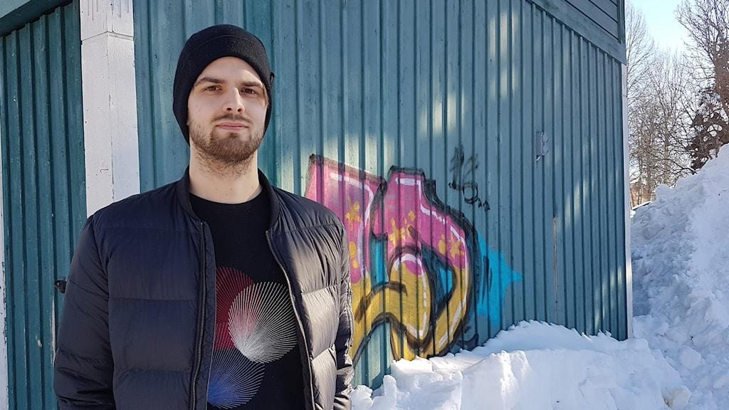 Markus Mattsby, som tillsammans med Joakim Lithner utgör Gällivare-duon Polarbearz.
