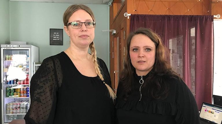 Jenny Bjuhr, enhetschef AFF -avdelningen för funktionshindrade, och handledaren Anna Lundgren.