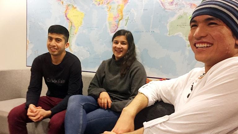 Ali Joozjani, Nadia Sahlin och Ali Karimi.