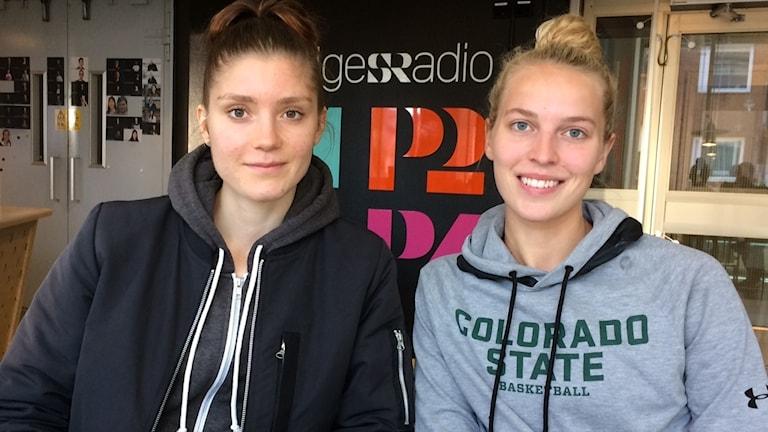 Josefin Vesterberg och Ellen Nyström.