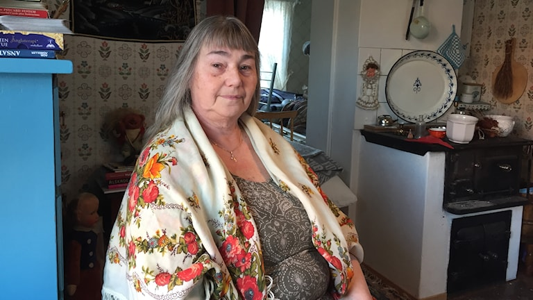 Monika Grannas som äger en av kyrkstugorna i Öjebyn.