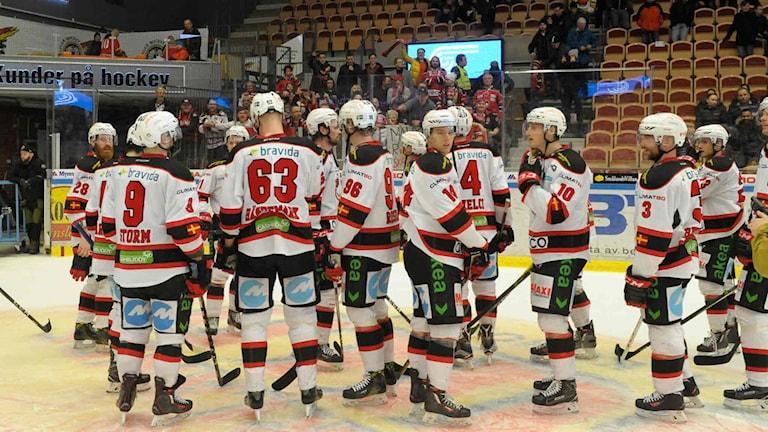 Mamlö jublar efter seger mot Luleå Hockey.