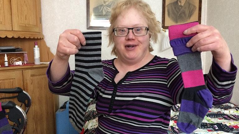 Annika Larsson i Luleå har Downs syndrom.