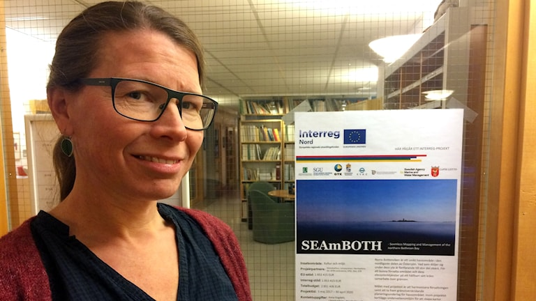 Anna Engdahl jobbar marint områdesskydd på länsstyrelsen.