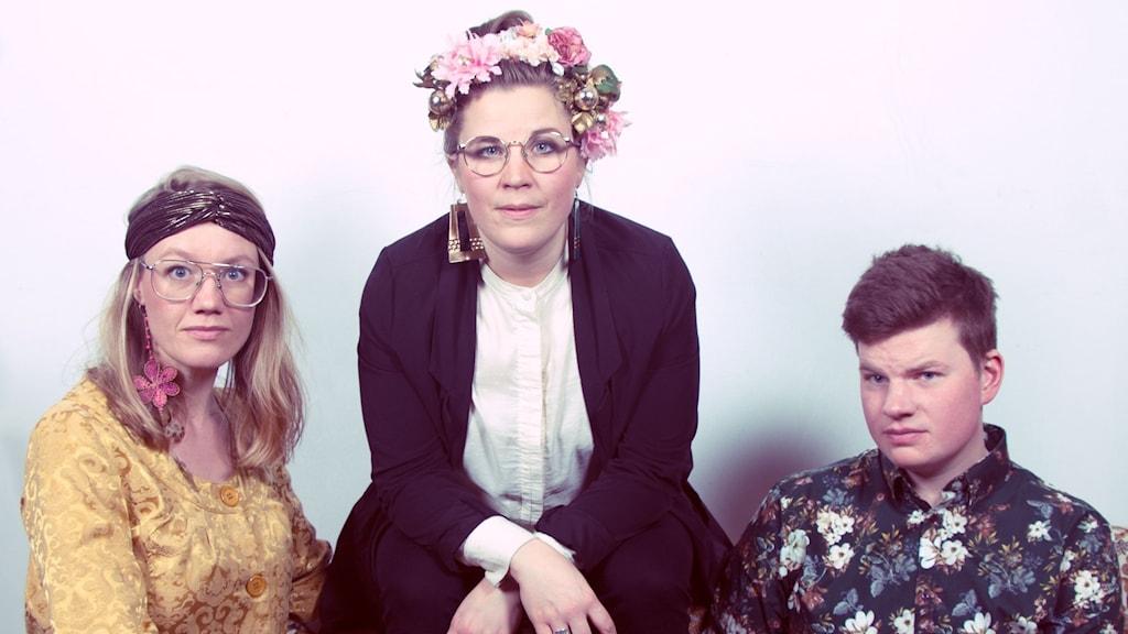 The Chickpeas Band. Elin Grunditz, Lina Larsdotter Åström, Emil Kåren.