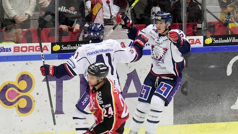 Linköping jublar efter mål mot mot Luleå Hockey.