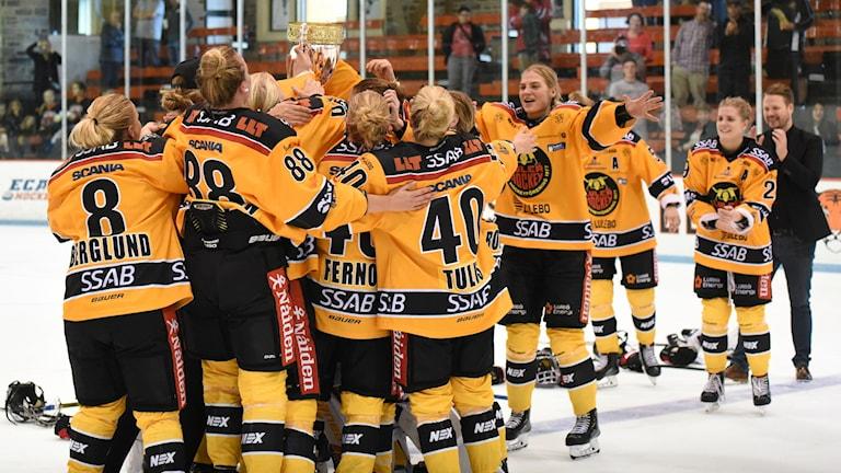 Luleå hockey/MSSK efter att de vunnit Champions Cup i USA.