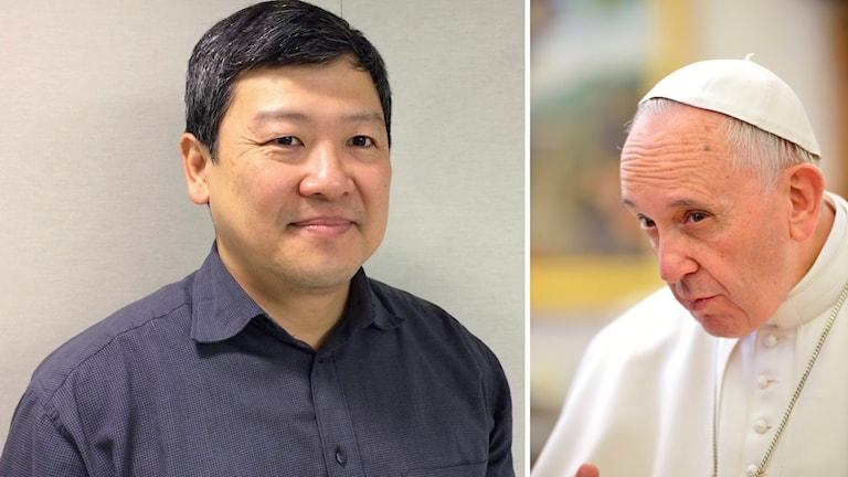 Philip Kuo, medlem i katolska församlingen i Luleå, önskar att han fick träffa påven Franciskus personligen.
