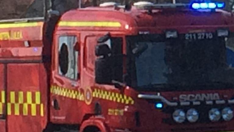 Blåljus på en av räddningstjänstens bilar. Foto: Anneli Lindbäck/Sveriges Radio