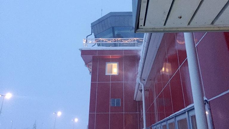 Tornet på Kriuna flygplats.
