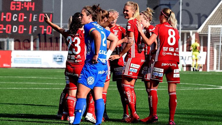 Piteå IF-Eskilstuna United i damallsvenskan i fotboll