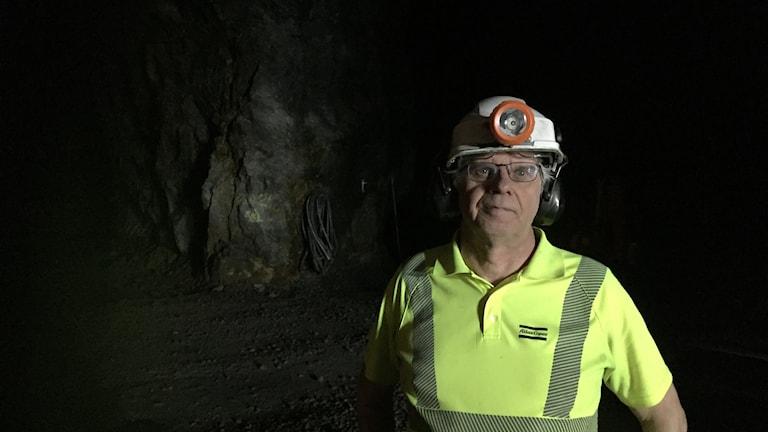 Jan-Olof Pettersson är chef för provgruvan i Stockholm.