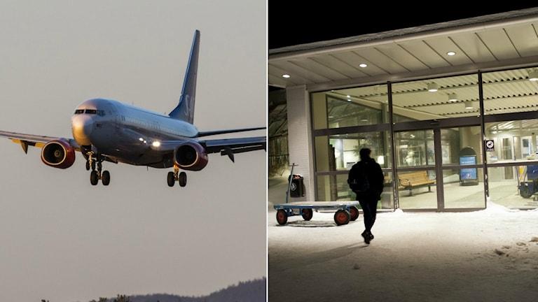 Flygplan och Luleå Airport.