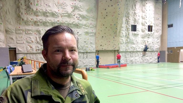 Carl-Johan Olofsson, ansvarig för bergsutbildningen på Arméns Jägarbataljon.