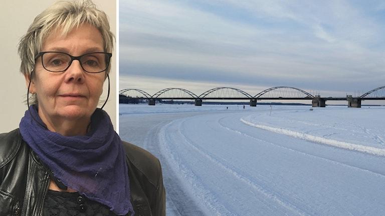 Inger B Larsson (S), ordförande i fritidsnämnden i Luleå kommun och isbanan.