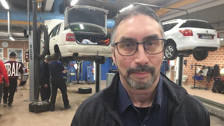 Bert-Erik Andersson, yrkeslärare på fordons- och transportprogrammet i Boden.