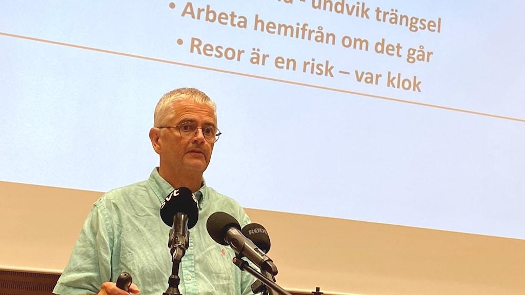 Smittskyddsläkare Anders Nystedt, Region Norrbotten.