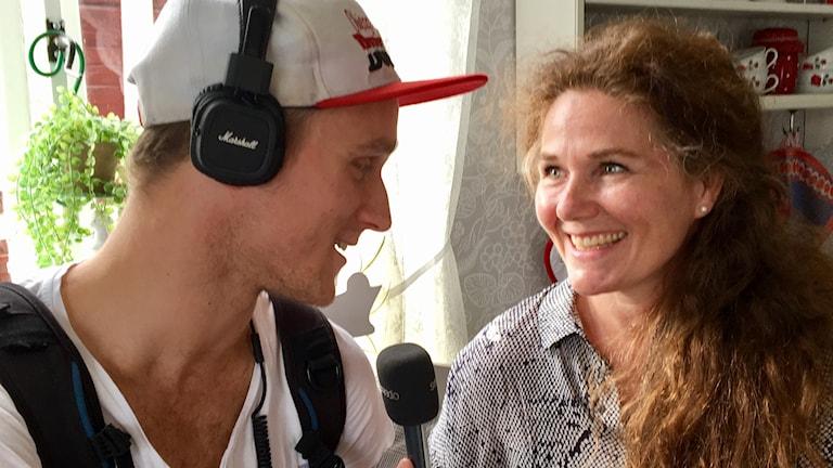 P4 Norrbottens Martin Hallén Almroth intervjuar Anna Azcárate.
