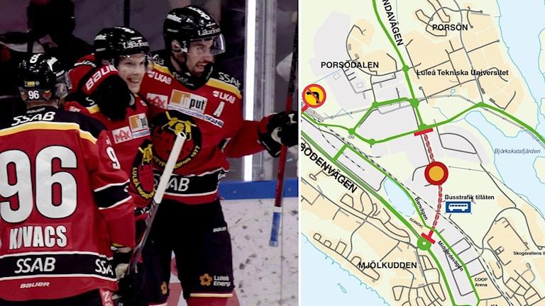 Kommunen väntar in hockeyslutspelet