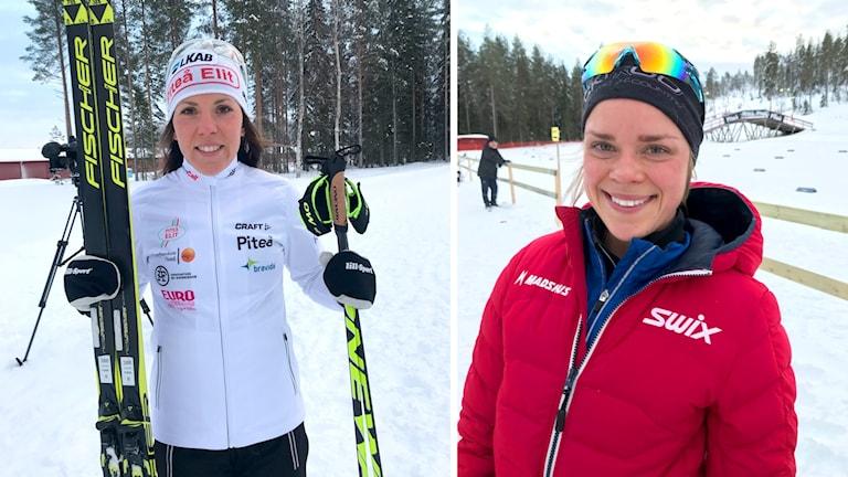 Charlotte Kalla och Lovisa Modig på Skandinaviska cupen i Piteå