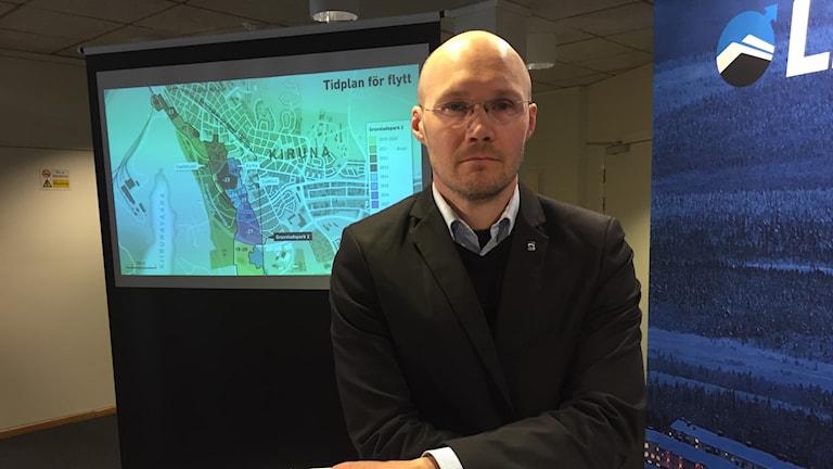 Joakim Björnström, LKABs chef för samhällsomvandlingen i Kiruna.