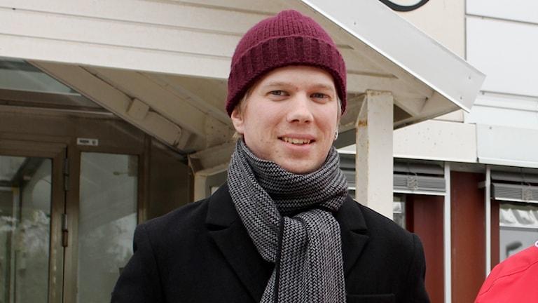 August Tapojärvi i Unionen på Radiotjänst i Kiruna.