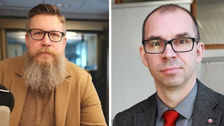 Statsvetareb SImon Matti och Niklas Nordström (S).