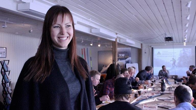 Skidanläggningar träffas i Kiruna. Sandra Hallnor är hotellchef på Dundret i Gällivare.