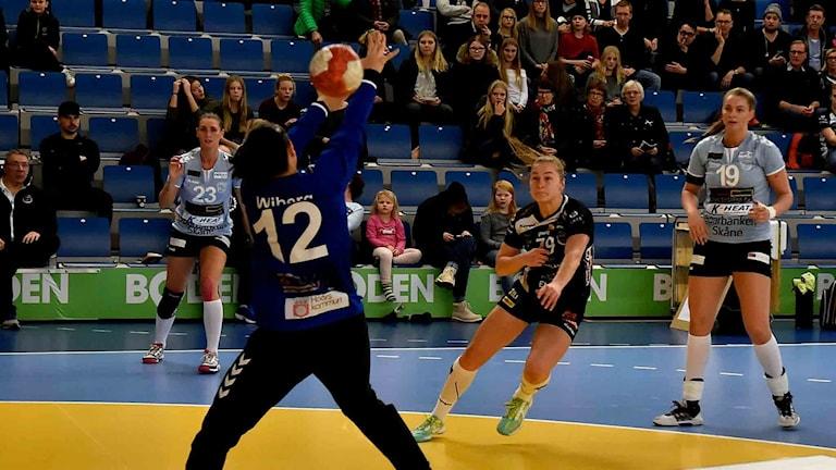 Boden handbolls Paulina Masna mot H65 Höör.