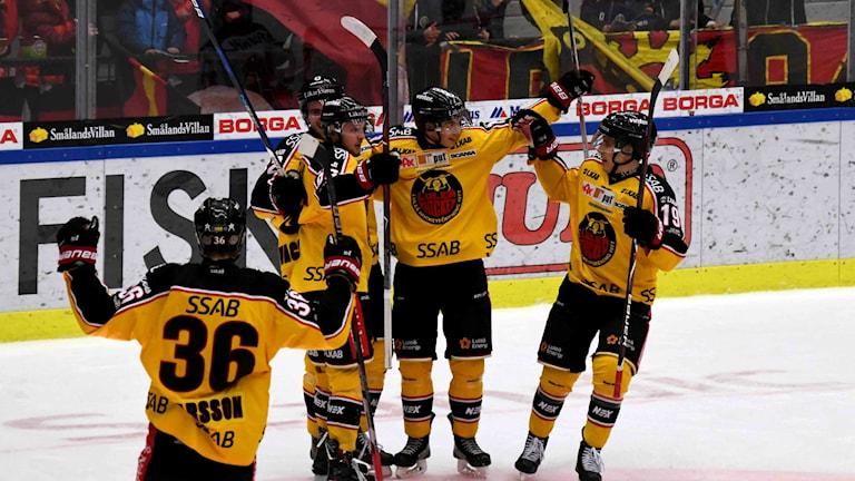 Måljubel Luleå Hockey i sista träningsmatchen för 2017 - en av de matcher som Jonas Berglund var med i.